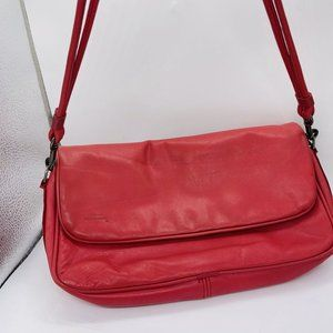 Stone Mountain Shoulder Bag Purse Leather Coral